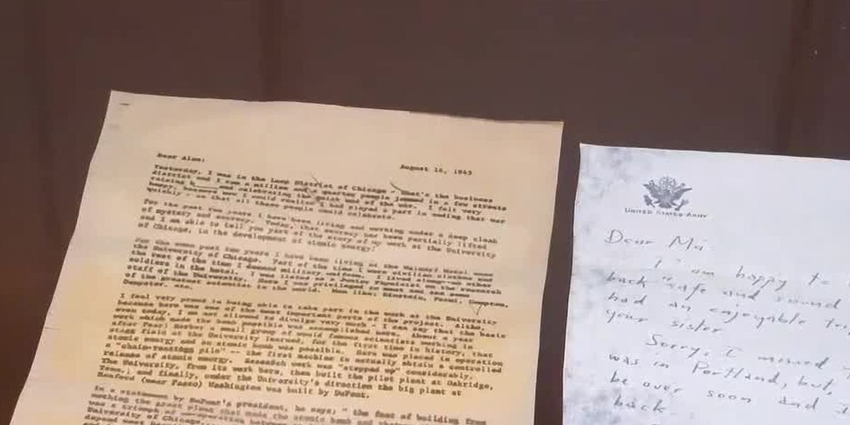 Mariemont furniture restorer discovers rare letters revealing secrets of atomic bomb