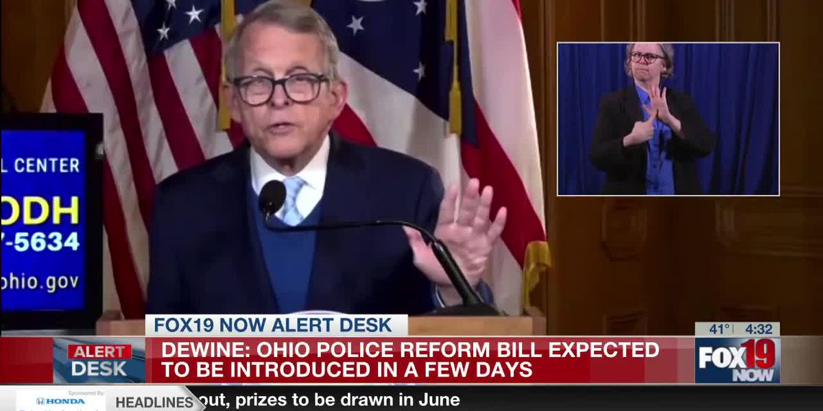 Gov. DeWine talks about police reform bill