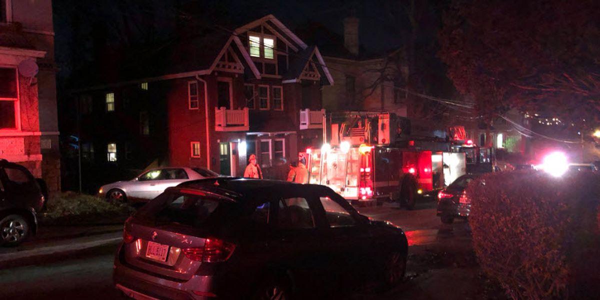 Firefighter hurt responding to Mt. Auburn fire