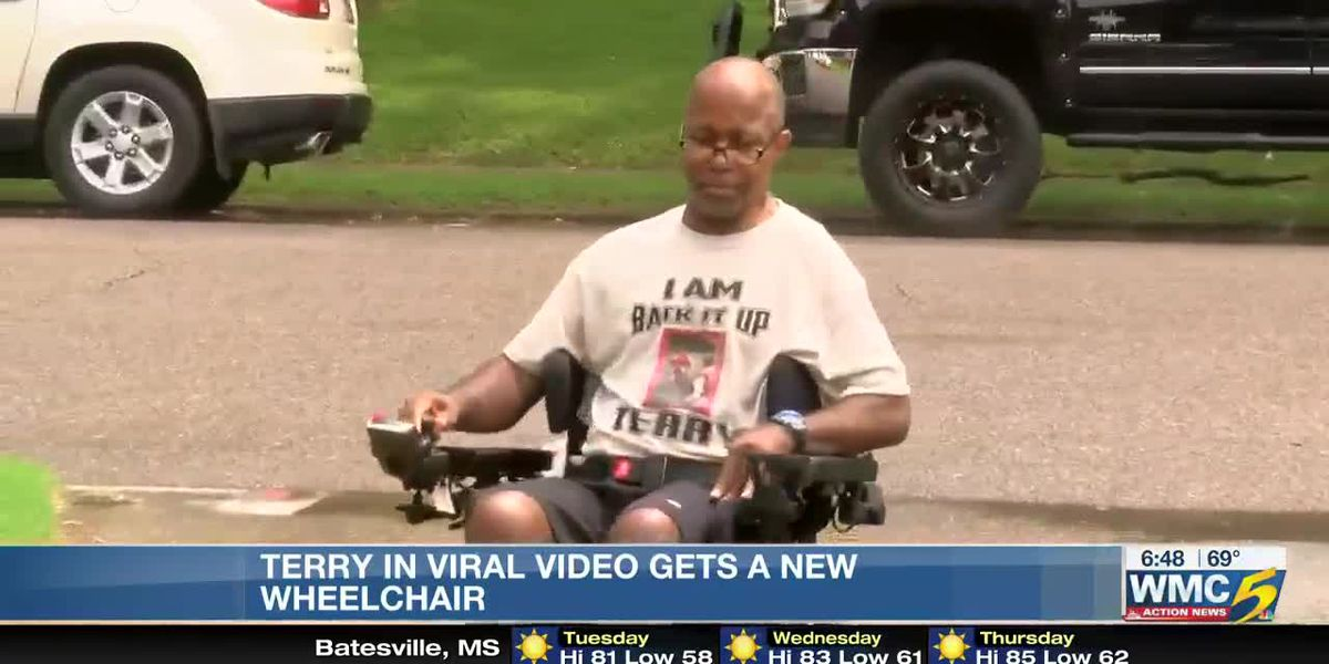Man from viral 'Back up Terry' video gifted with new wheelchair
