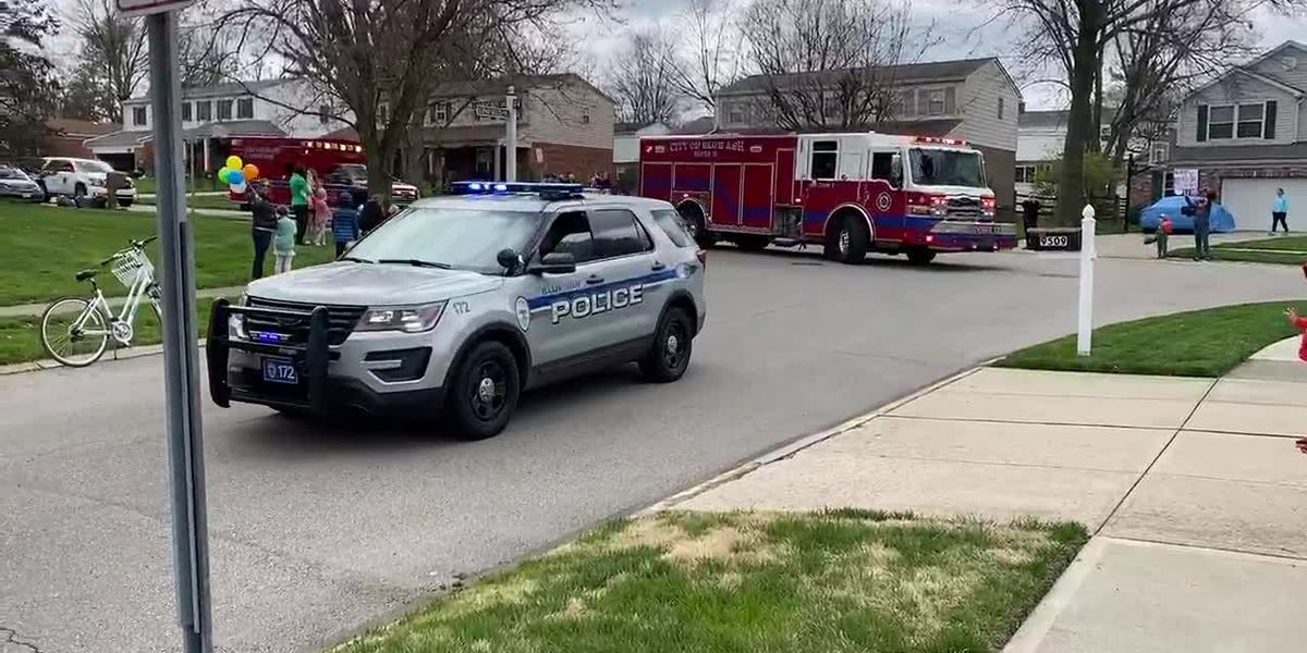 Police, firefighters delivering birthday parades for Blue Ash kids