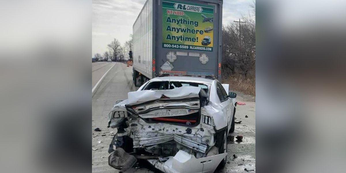 ISP trooper struck during traffic stop near Batesville