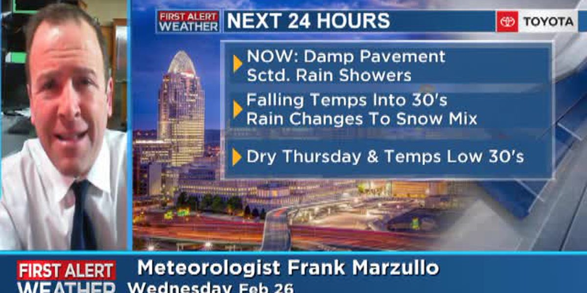 Meteorologist Frank Marzullo's Wednesday morning forecast