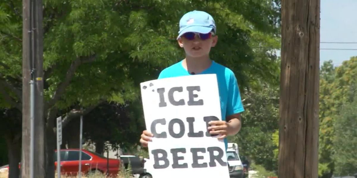 Boy sets up 'ice cold beer' stand, police investigate