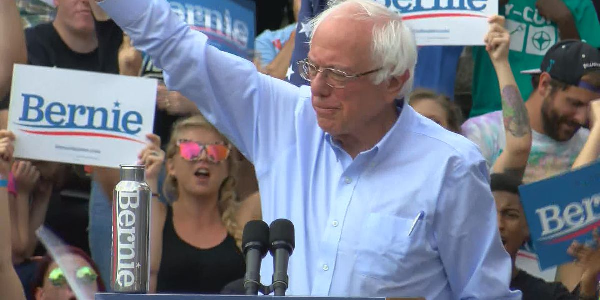 Bernie Sanders criticizes Mitch McConnell during Louisville rally