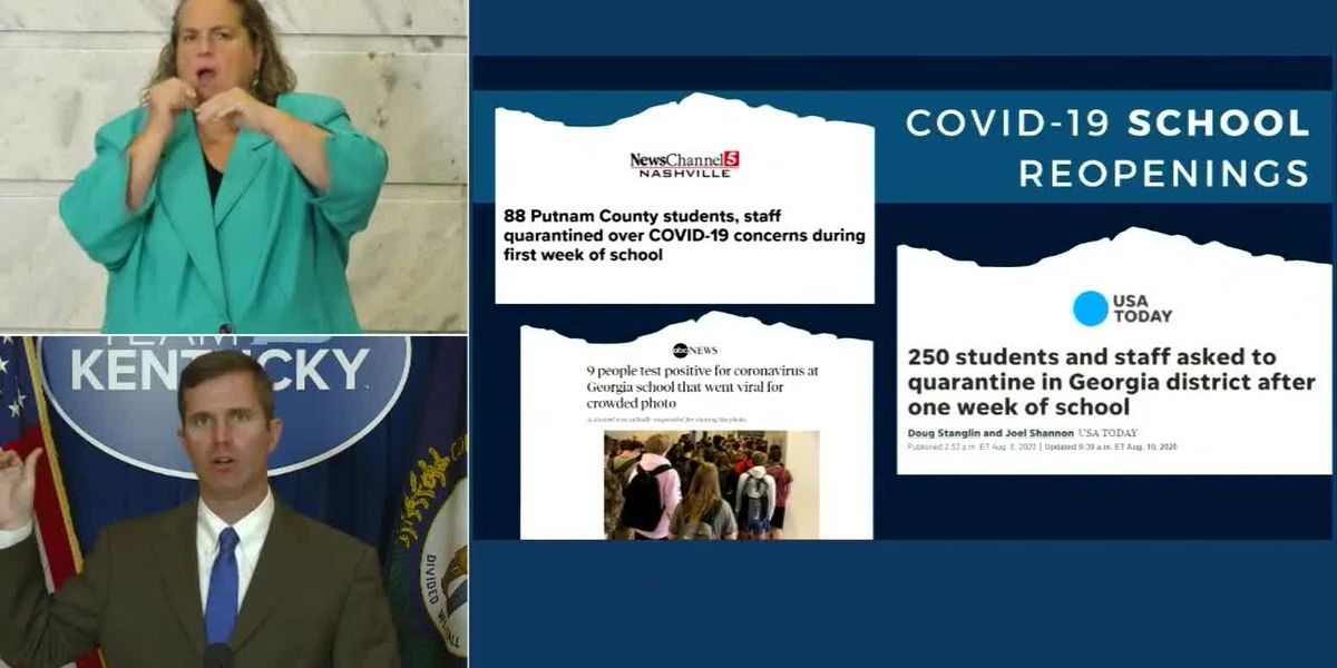 WATCH LIVE: Gov. Beshear gives update on Kentucky's COVID-19 response - clipped version