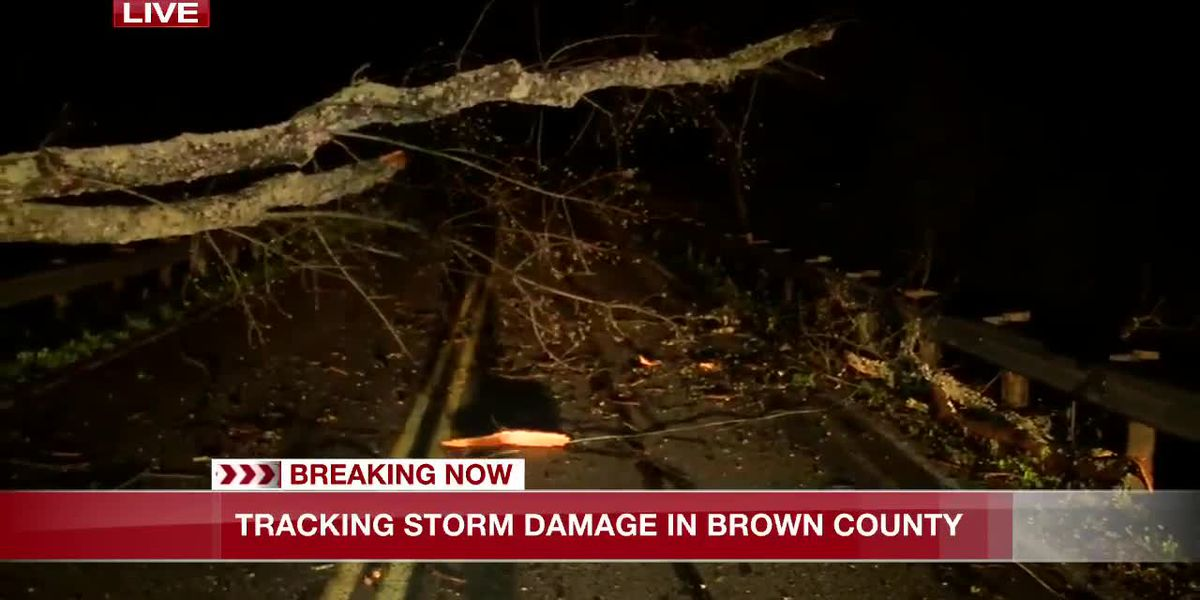 Storm damage in Brown County