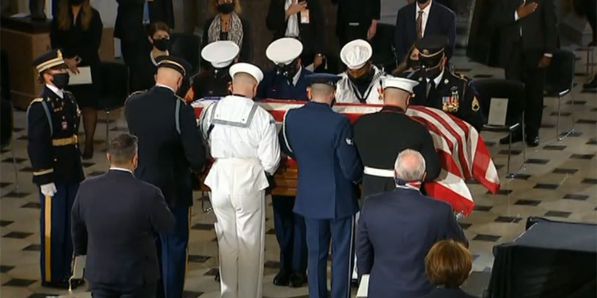 LIVE: Ginsburg is first woman to lie in state at US Capitol