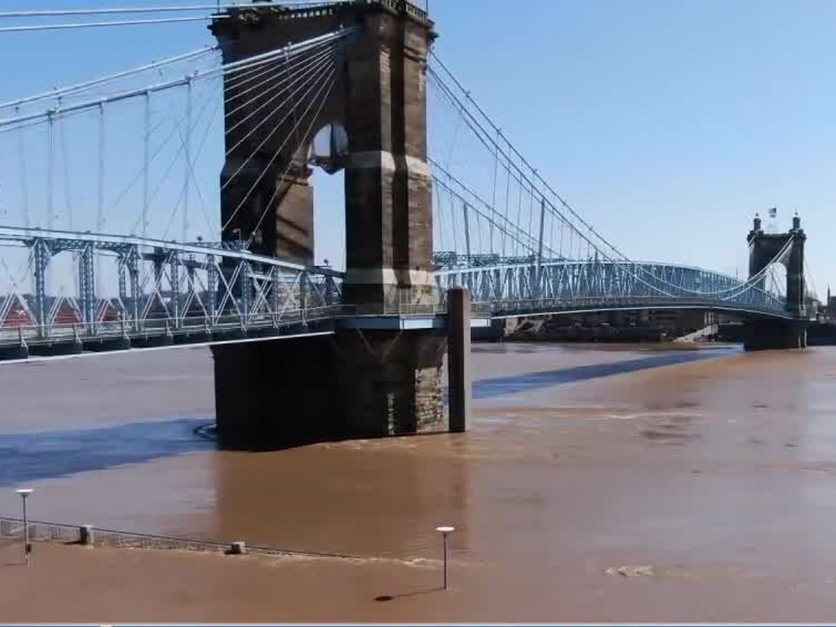 Ohio River close to cresting in Cincinnati
