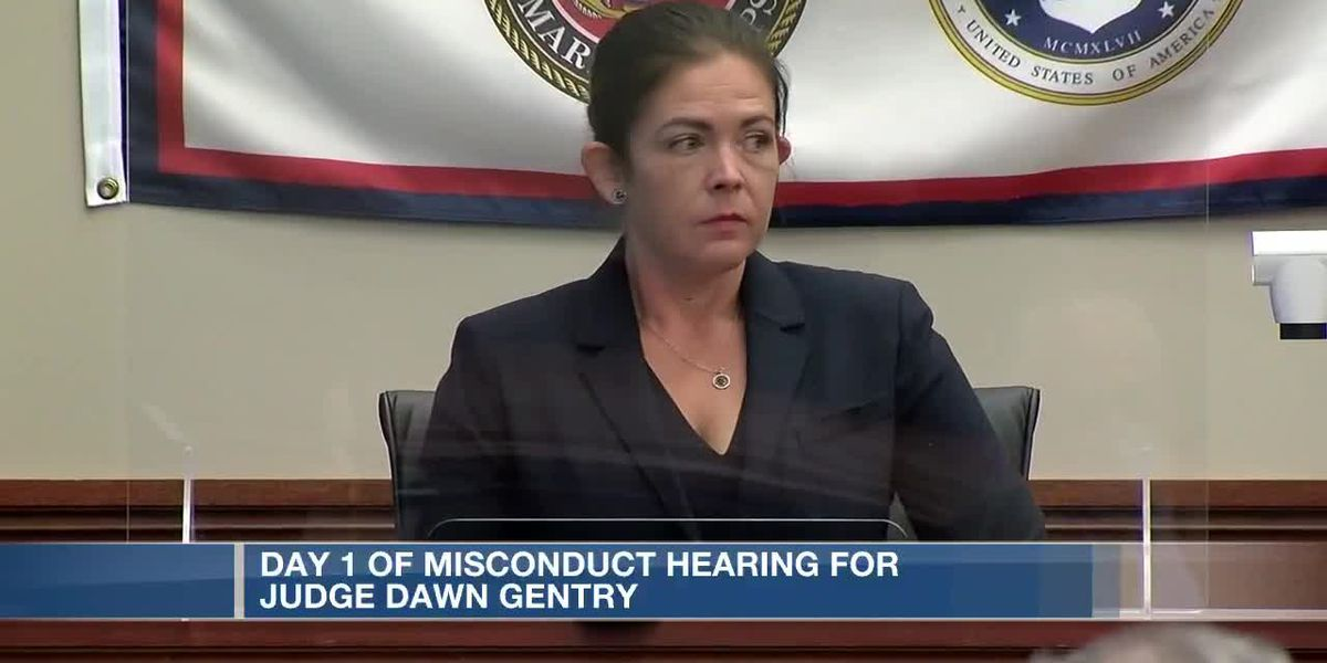 Day 1 of misconduct hearing for Judge Dawn Gentry