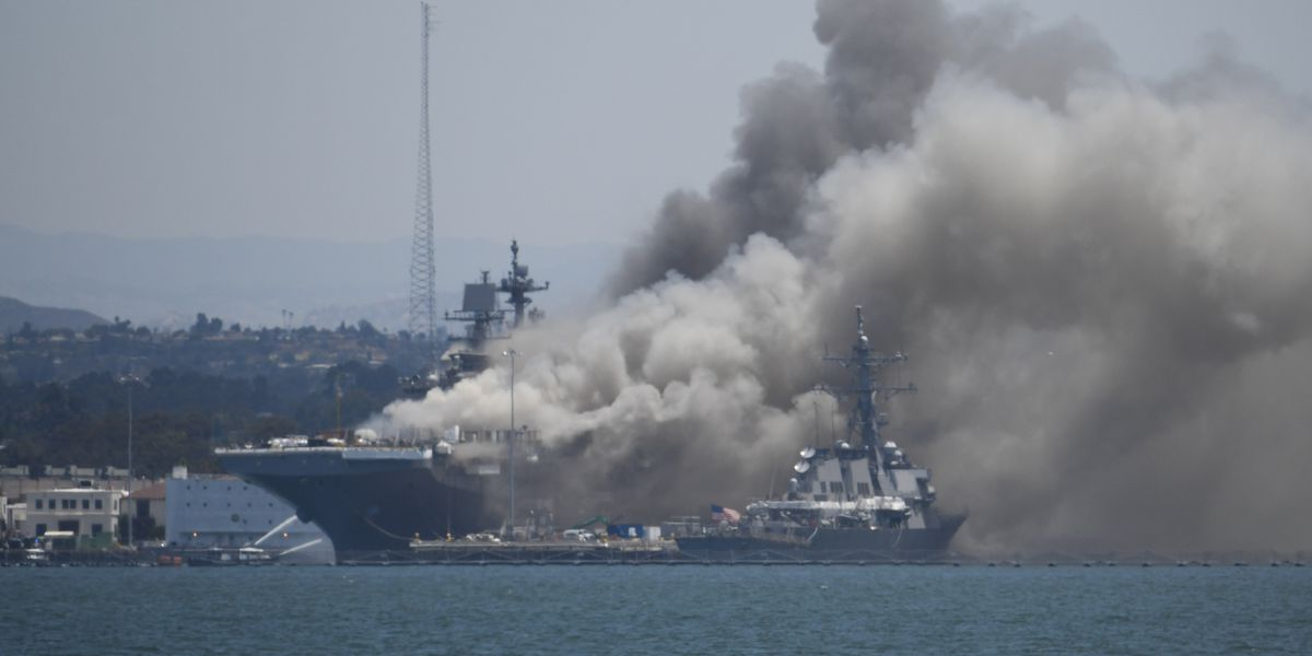 Official: Firefighting system was inoperable on Navy ship
