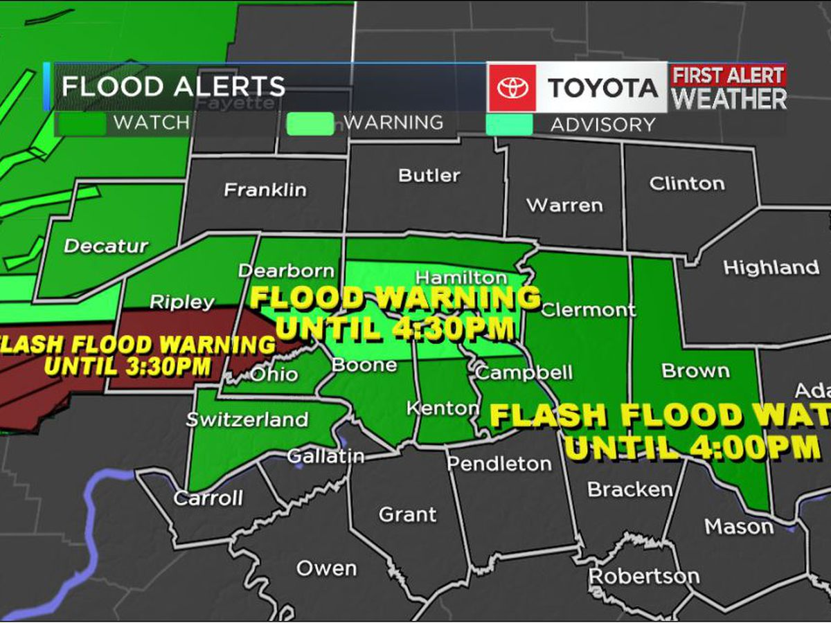 Flood concerns and thunderstorms this afternoon