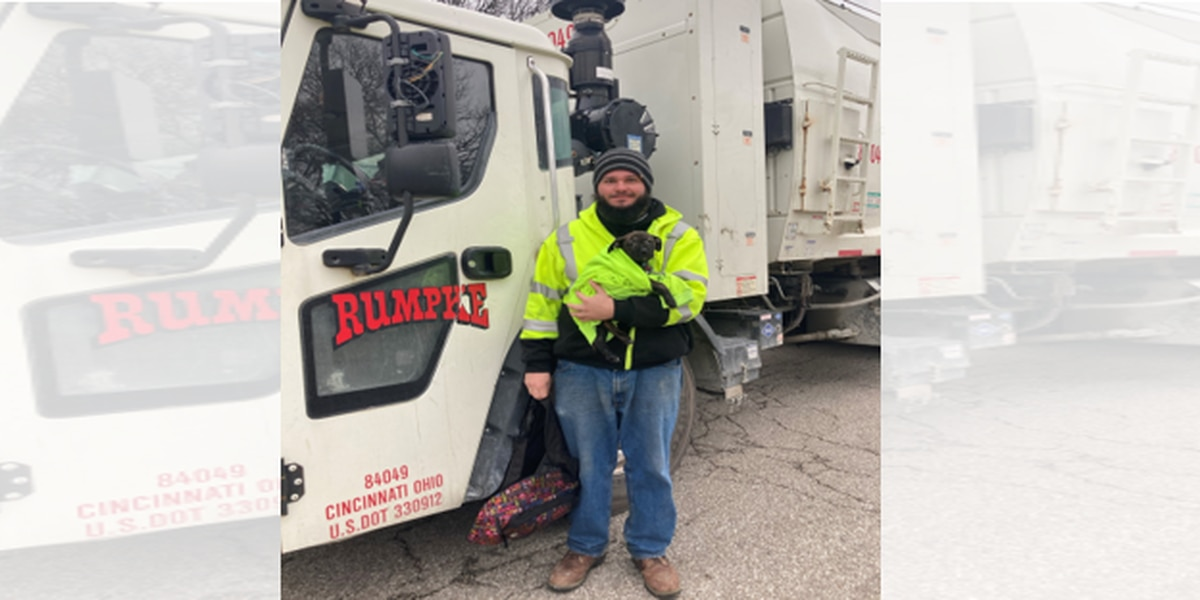 Not all heroes wear capes: Rumpke driver saves puppy left in backpack