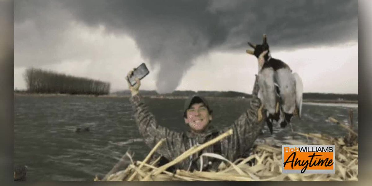 Duck hunting in a tornado?
