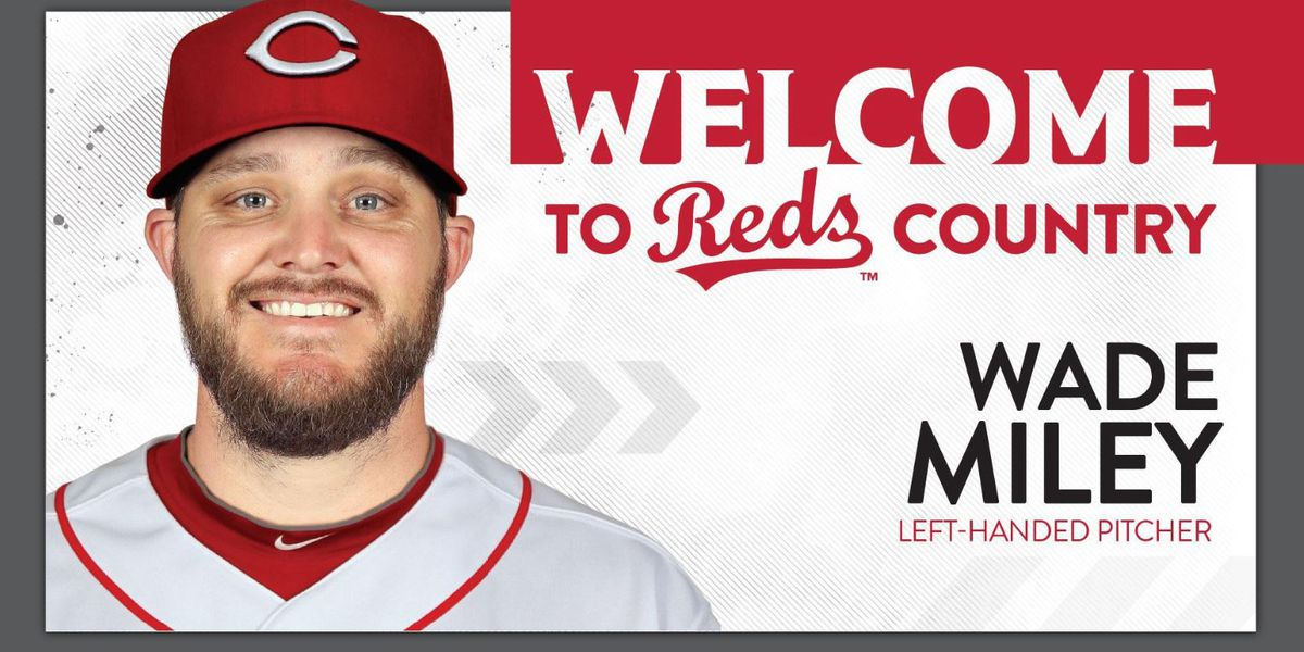 Reds sign Wade Miley to two-year deal worth $15 million