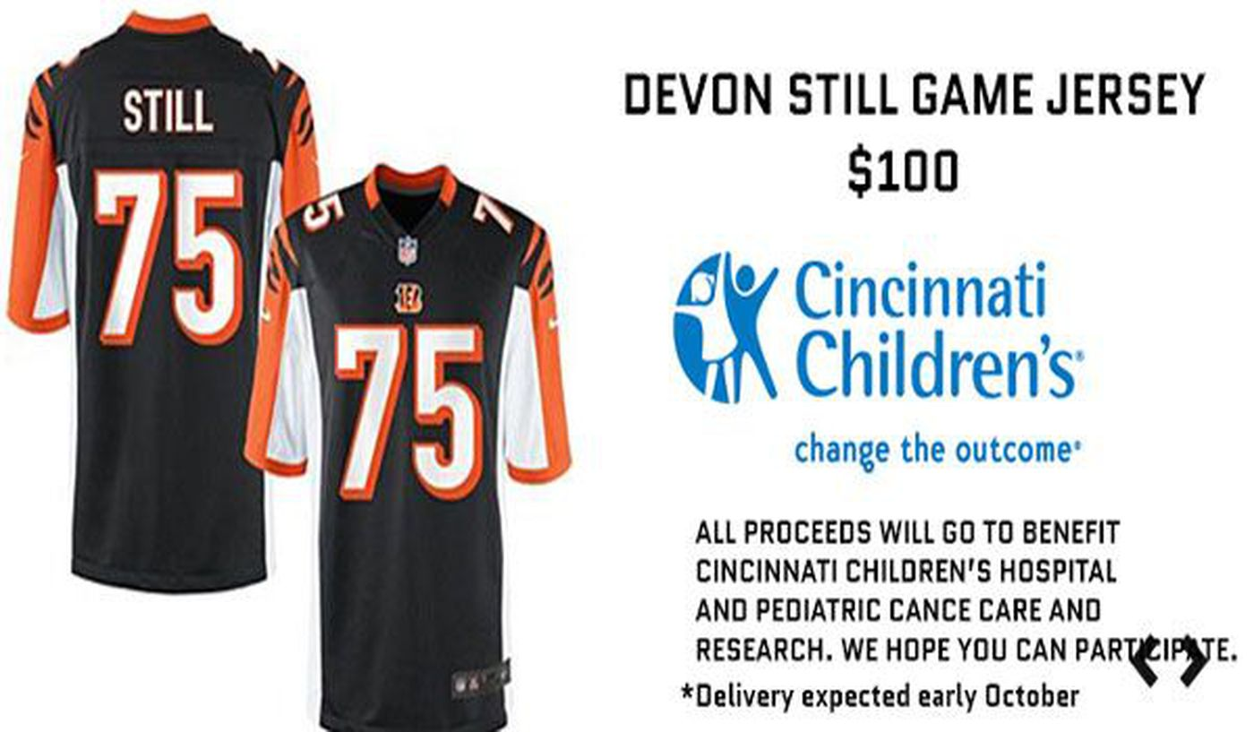 Bengals selling Devon Still jerseys for cancer research