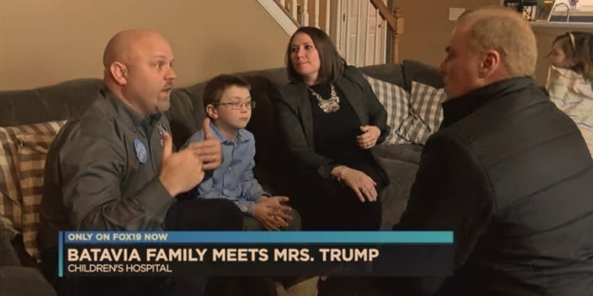 Batavia family meets First Lady: 'She gave us a golden coin'
