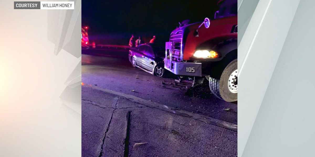 Construction worker uses truck to block wrong-way driver on Ind. highway