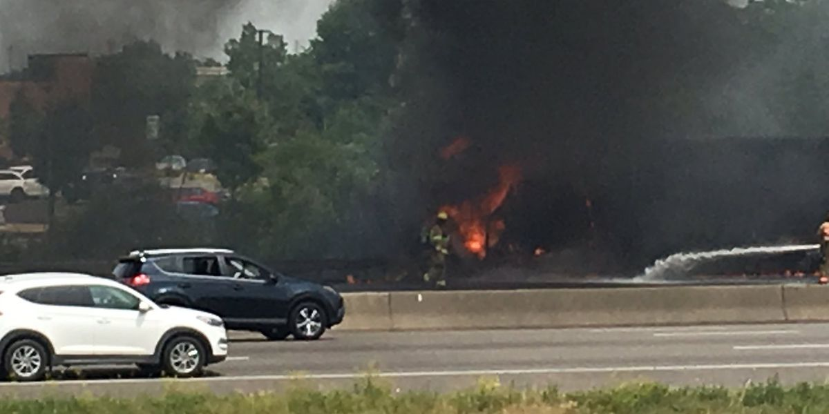 Southbound I-71/75 reopening after semi catches fire