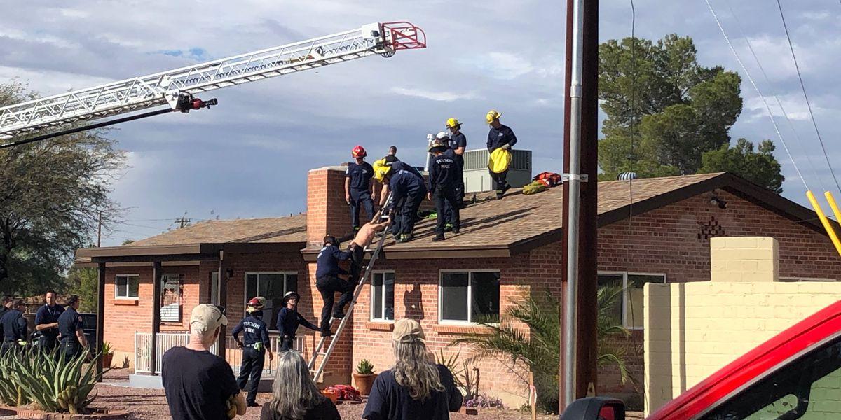 Arizona man gets stuck in chimney