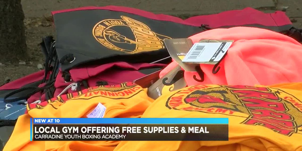 Local boxing gym gives out school supplies