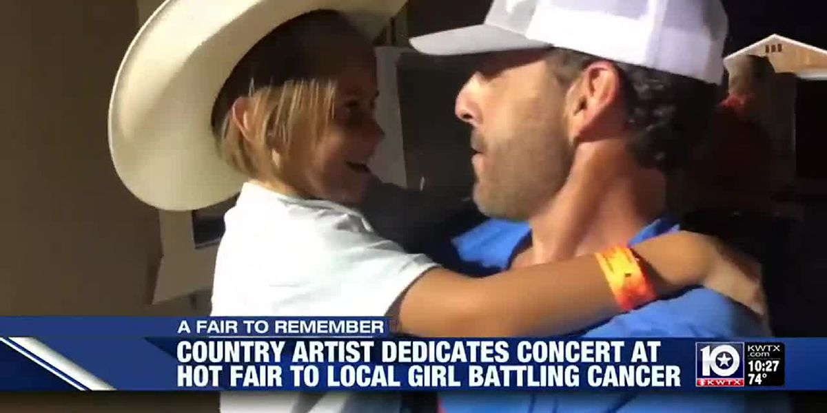 Country artist dedicates concert to girl battling cancer