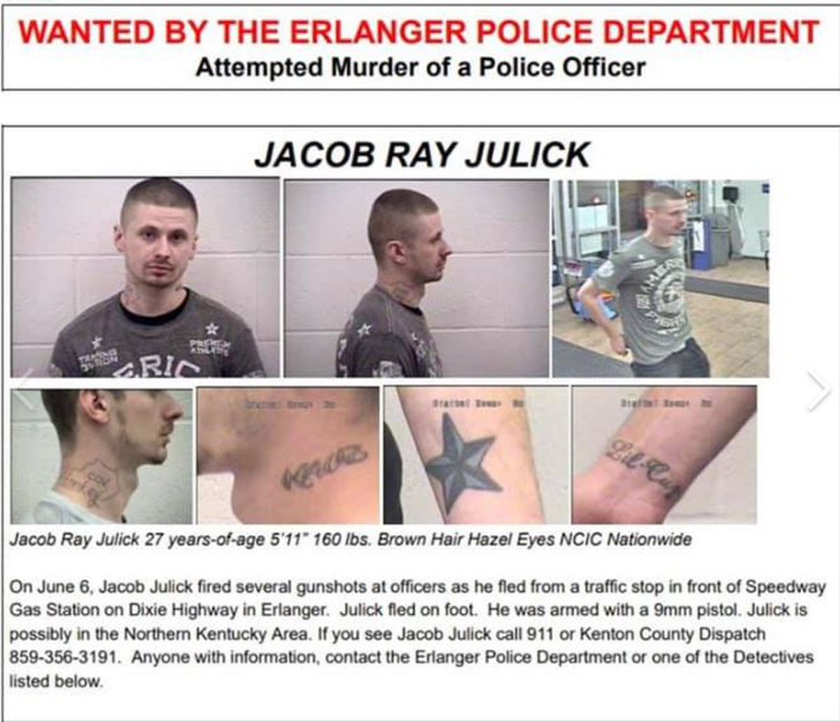 Man Wanted For Shooting At Police In Erlanger Spotted Over