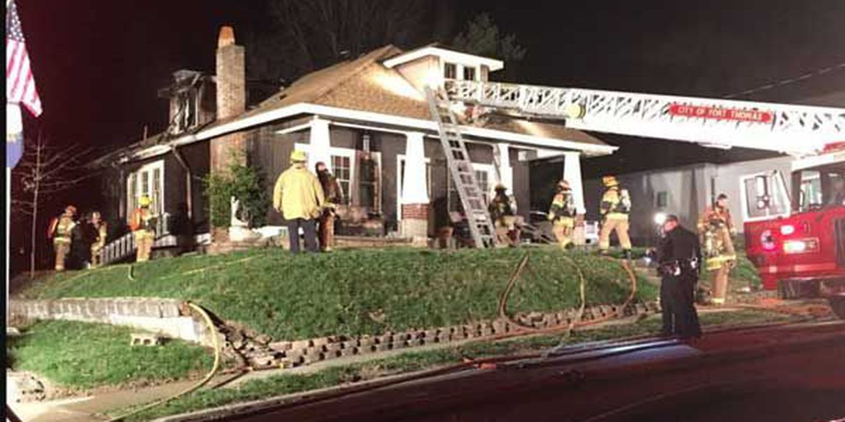 4 displaced in Fort Thomas house fire