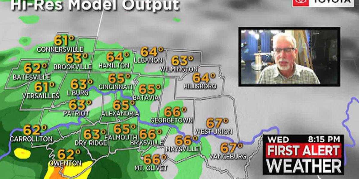 Widespread rain returns Wednesday evening