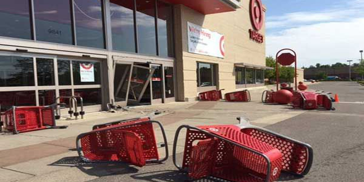 Vehicle crashes into Target store, 1 to hospital
