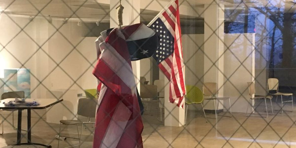 American flag artwork on UC's campus drawing controversy