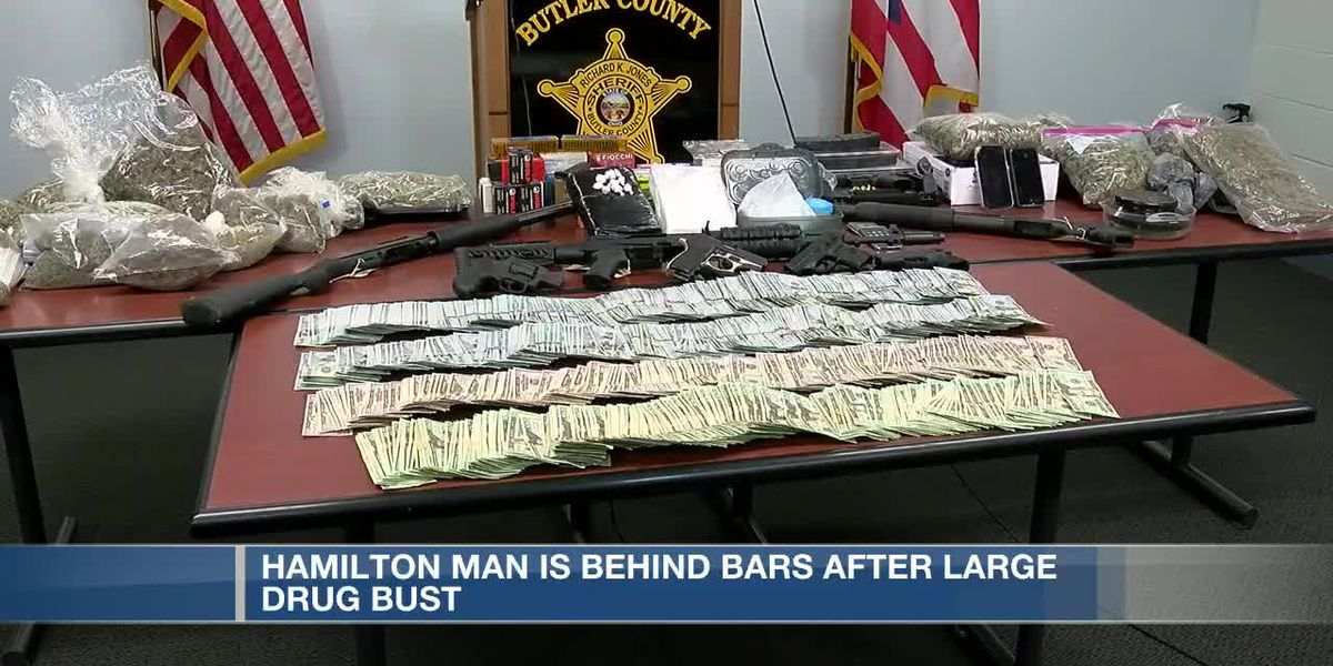 $75K, drugs, guns and more seized during Butler County drug bust