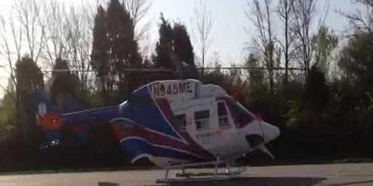 Medical helicopter responds to Middletown crash