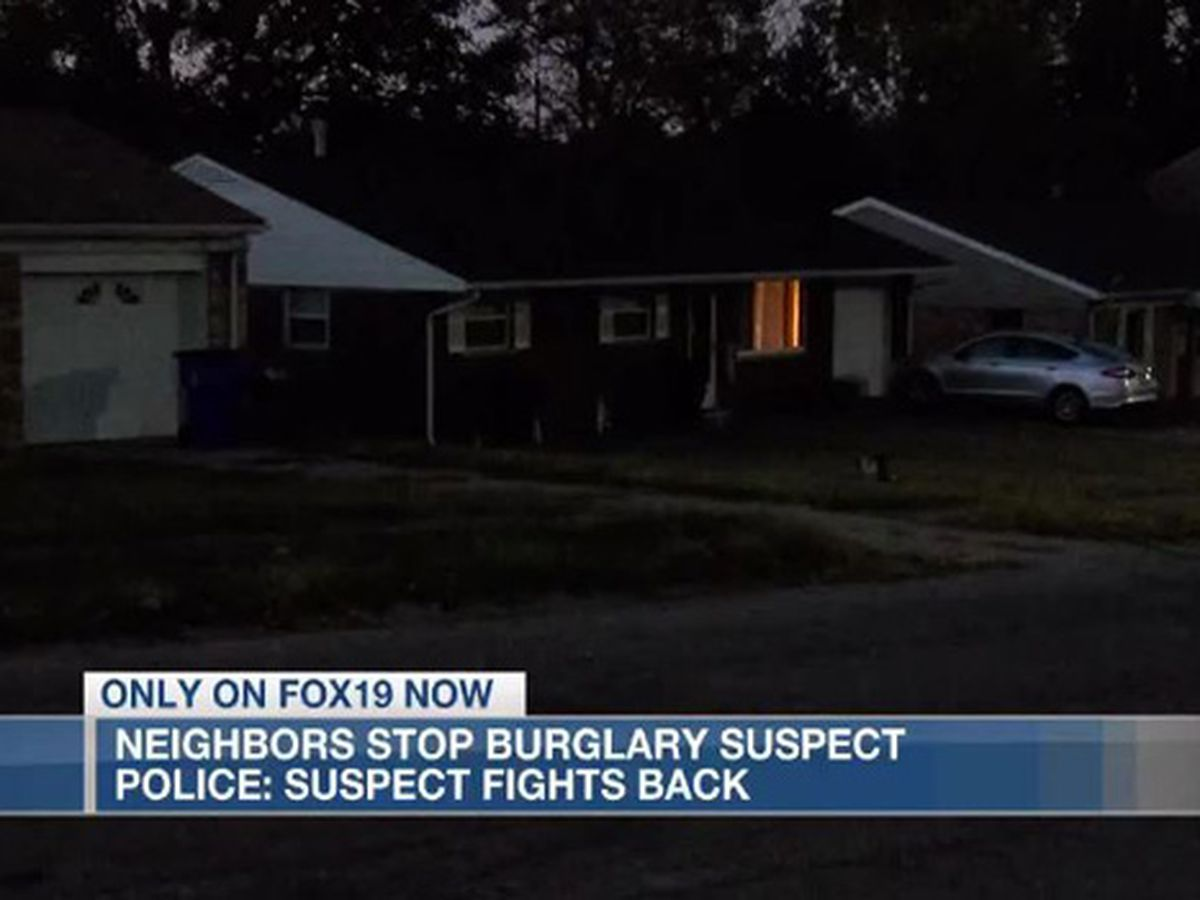 Police: burglary suspect fights back with mace after neighbors hold him down