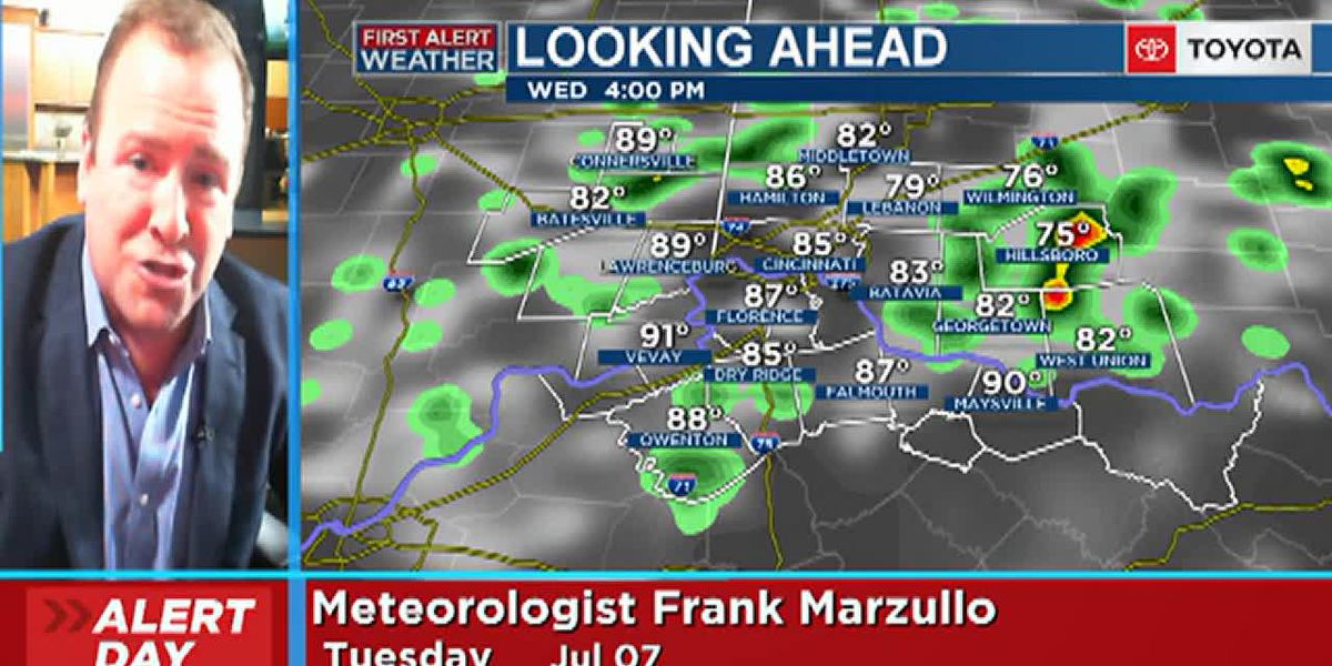 Frank's Tuesday afternoon forecast 7/7