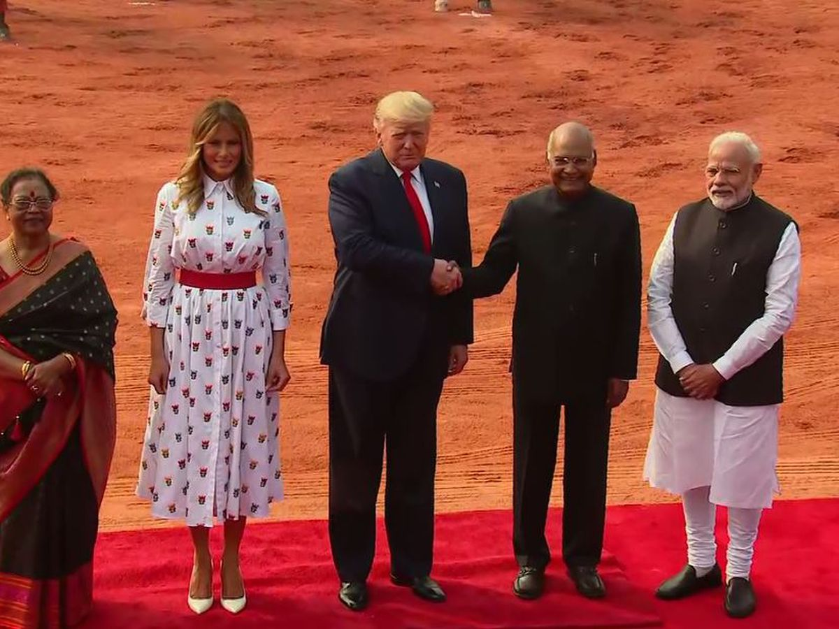 Trump returns to domestic squabbles on India trip