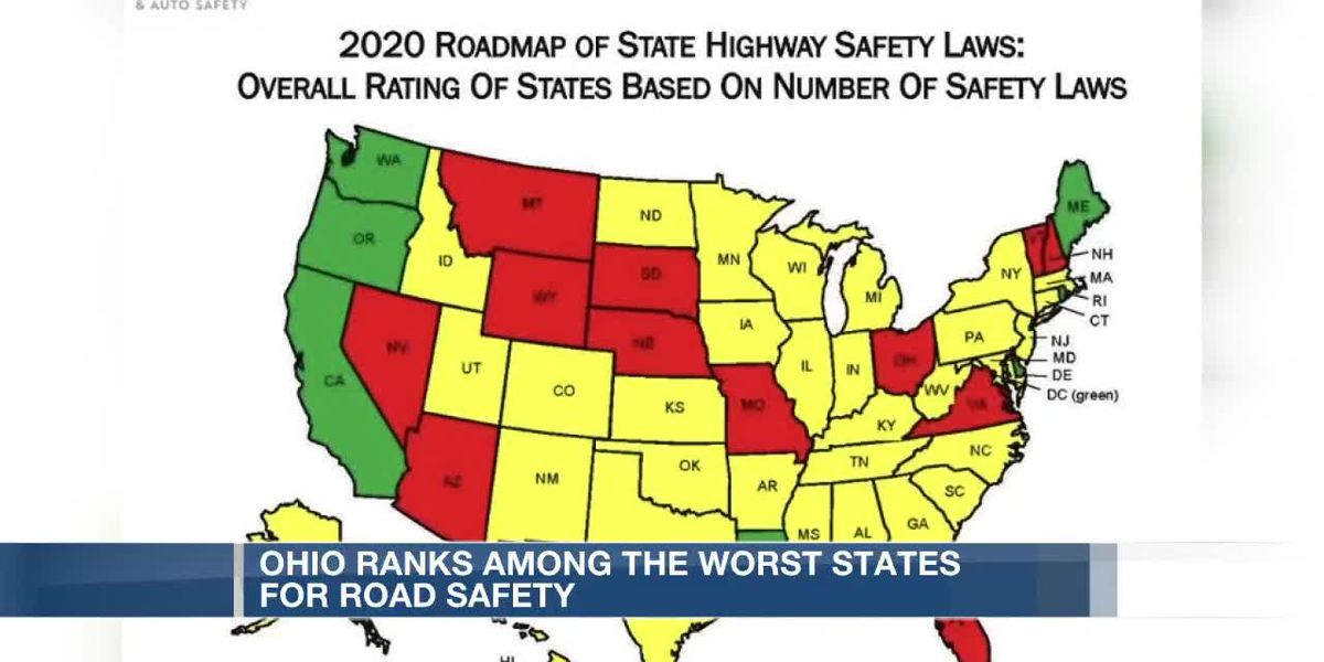 Ohio ranks among worst states for road safety