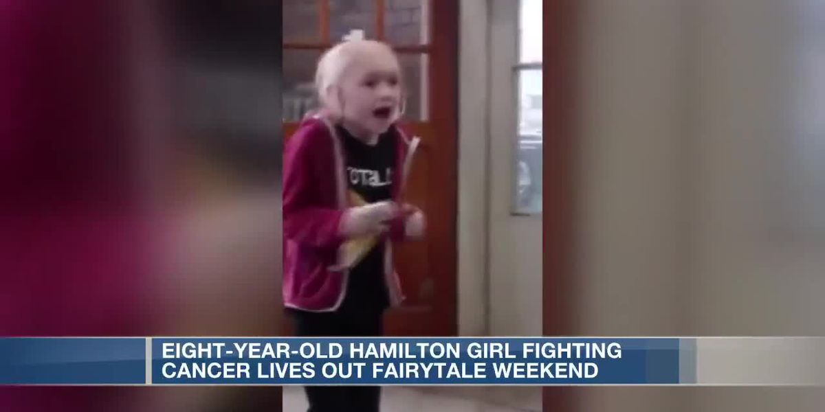 8-year-old Hamilton girl fighting cancer lives out fairytale weekend