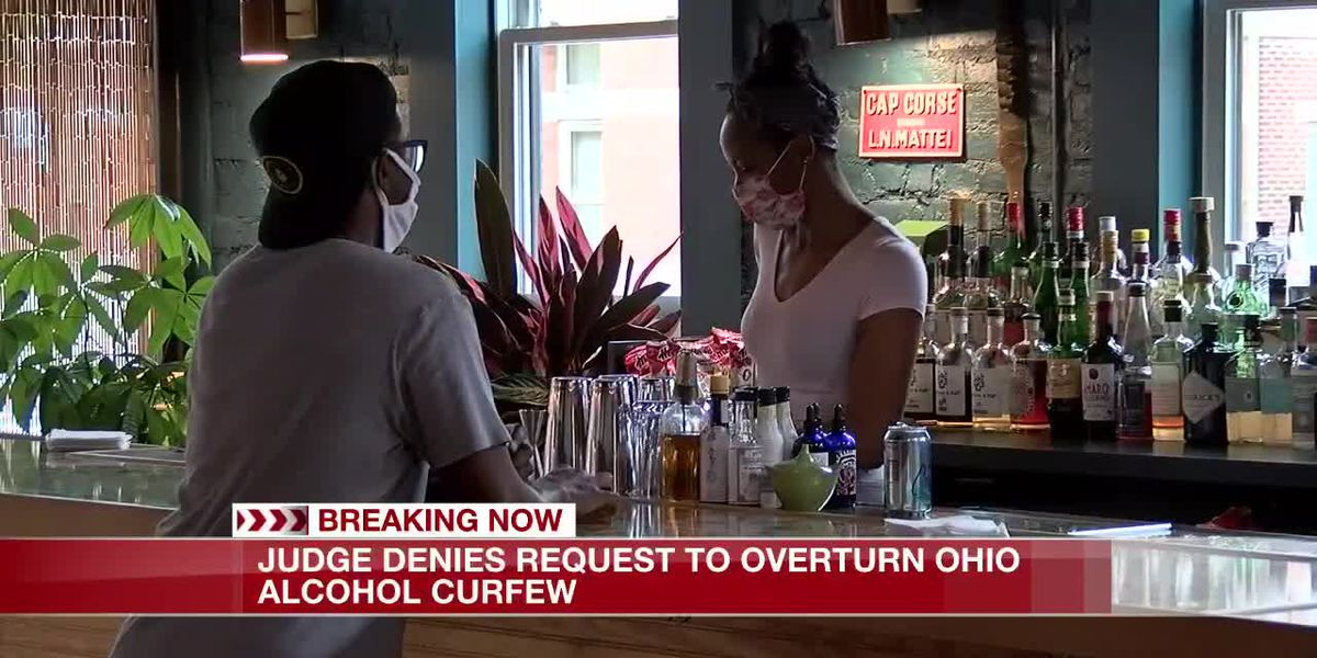 Judge denies request to overturn Ohio alcohol curfew