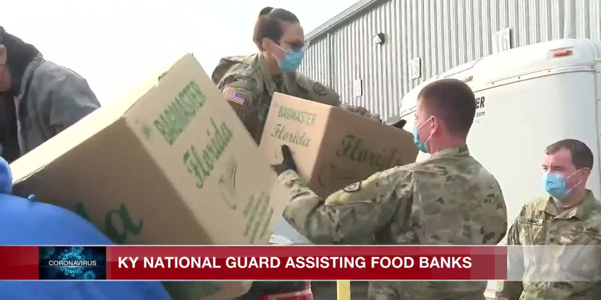 Kentucky National Guard assisting food banks