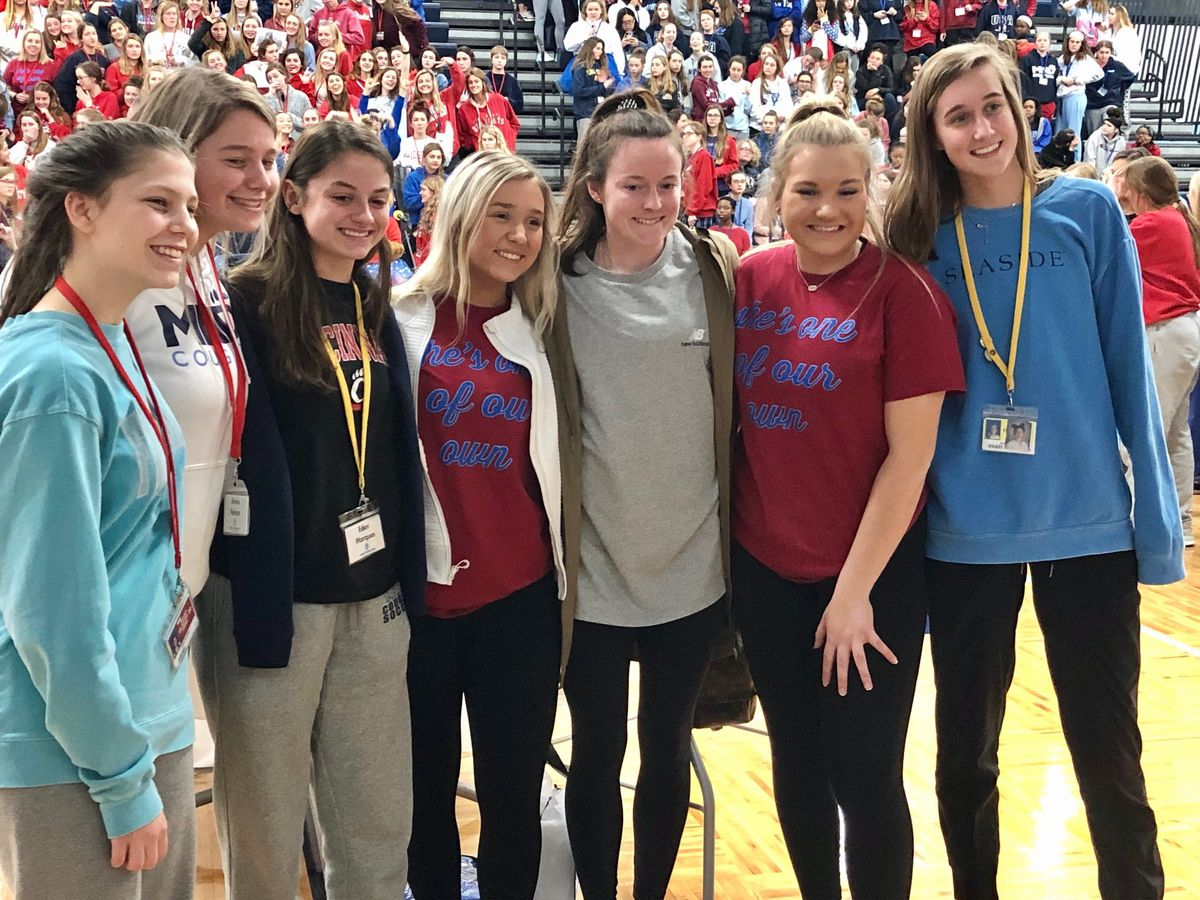 Rose Lavelle returns to Mount Notre Dame High School to celebrate national soccer team success