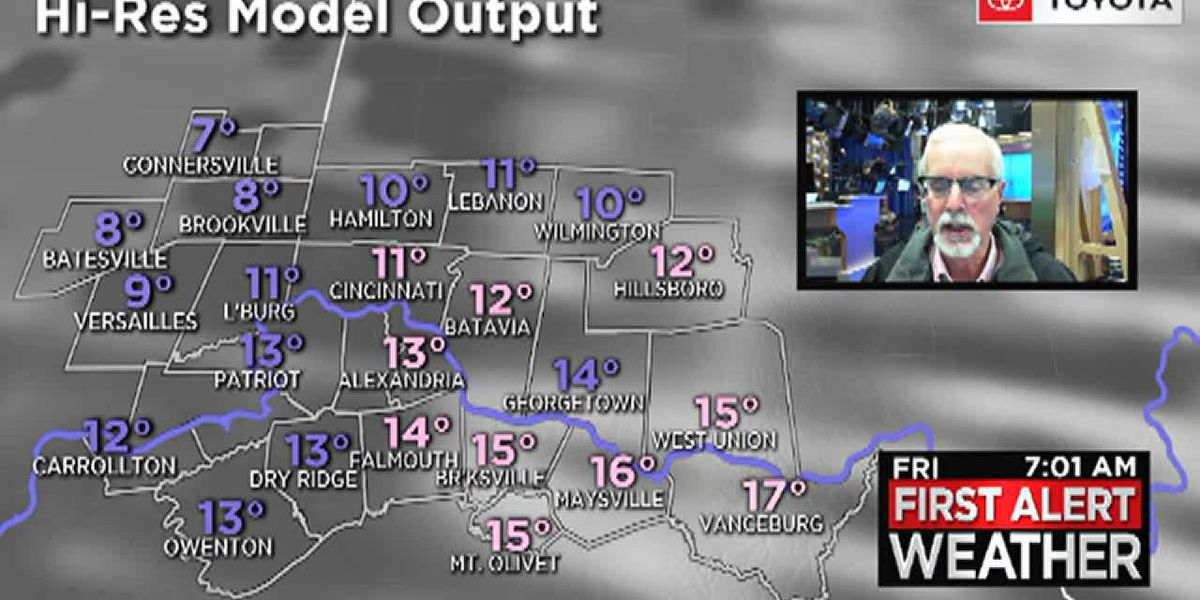 Temperatures to drop into the single digits overnight