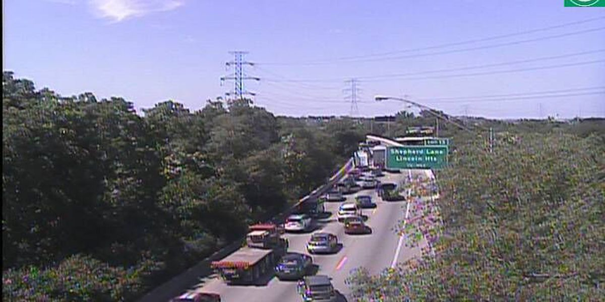 I-75 NB reopens at Lockland split after car fire