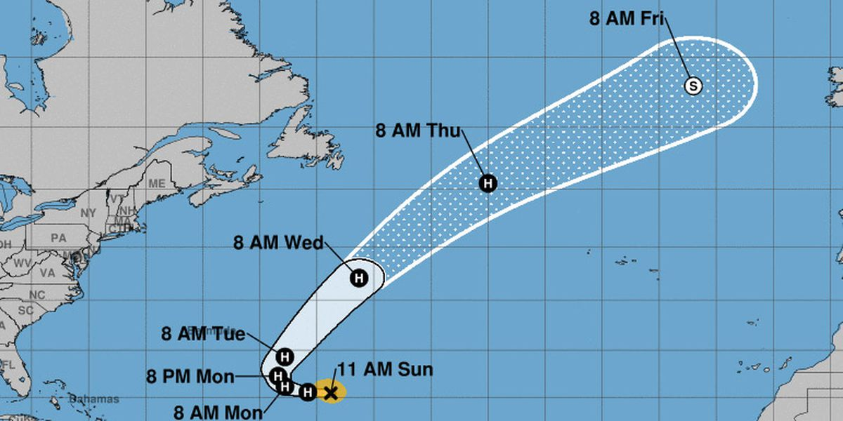 NOAA: Sub-Tropical Storm Oscar Projected Path, Spaghetti Models