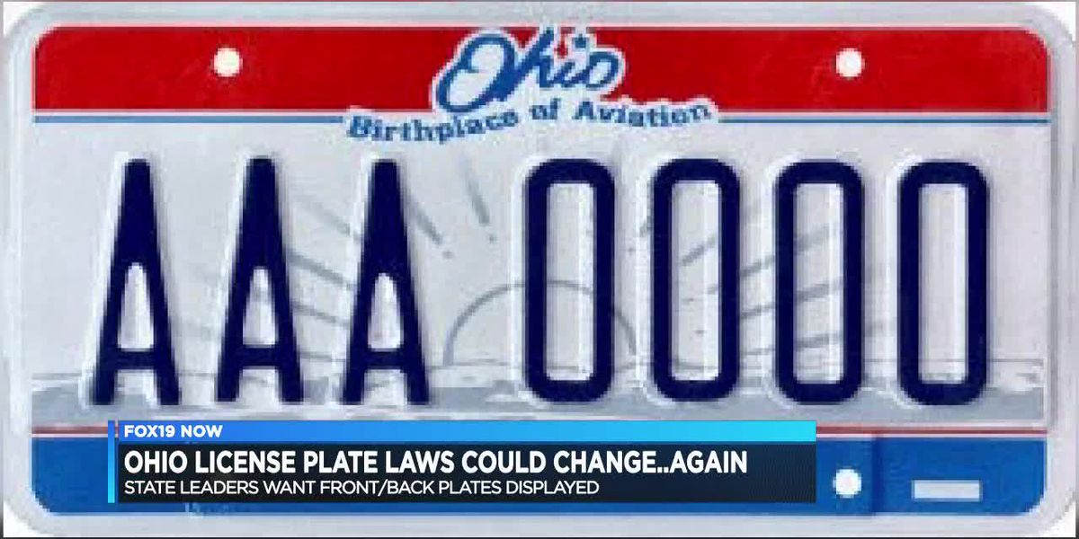 Ohio's license plate laws could change again