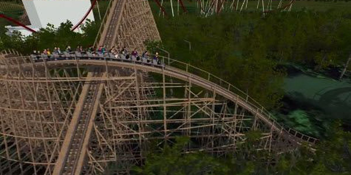 Computer-generated video of Kings Island's newest rollercoaster