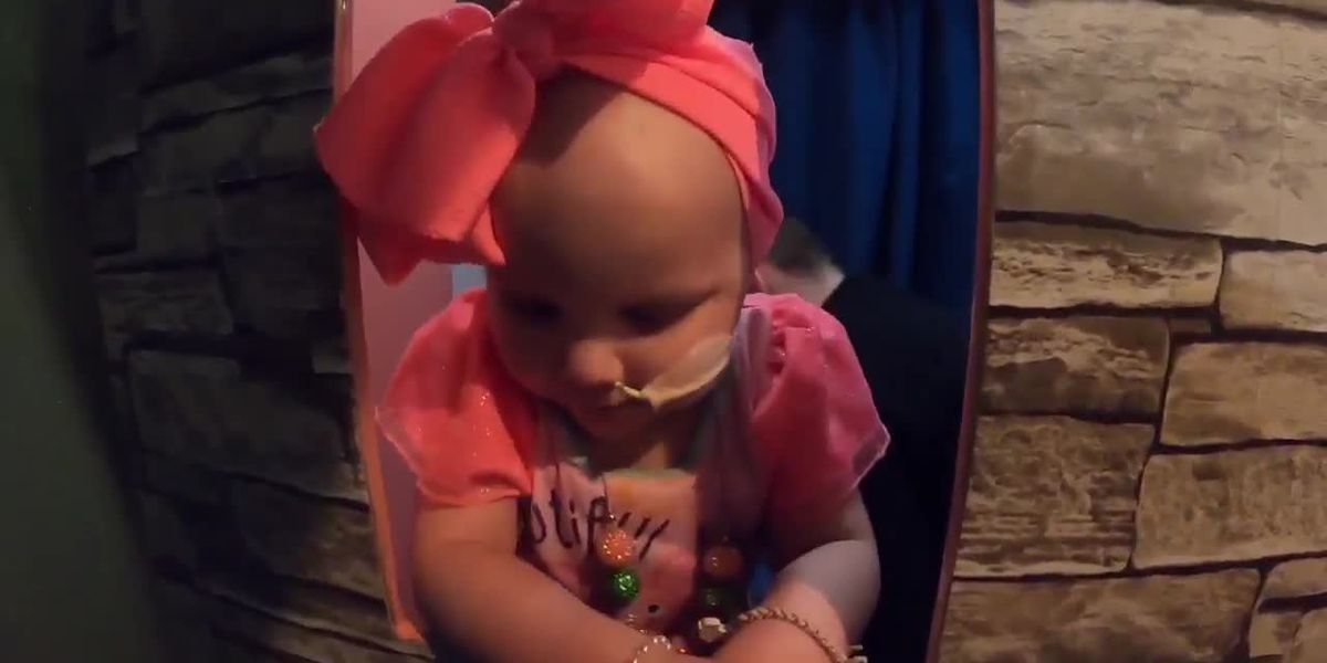 Girl battling stage-4 cancer lives out her dream of being a princess