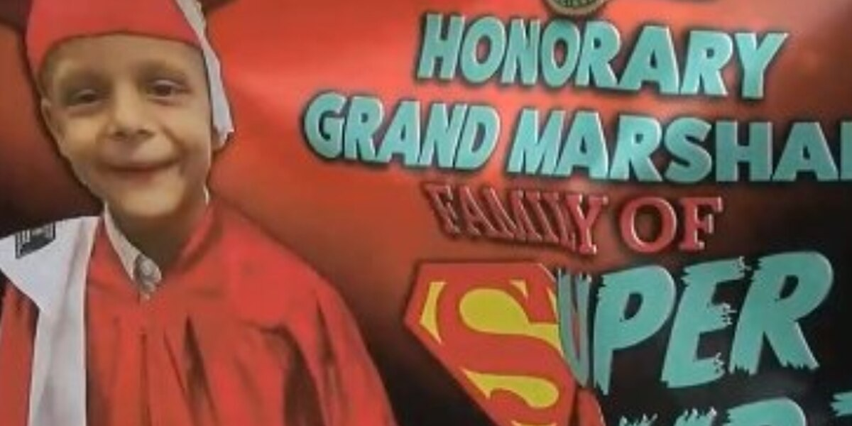Parents serve as parade grand marshals on 7th birthday of son who died of cancer