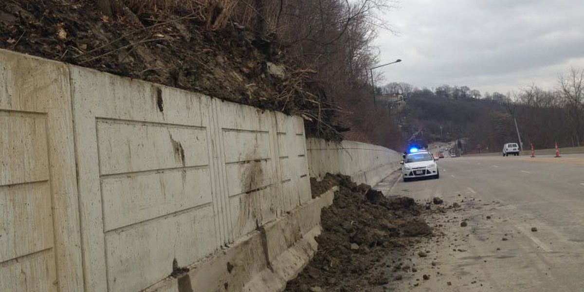 Columbia Pkwy reopens after mudslide Friday