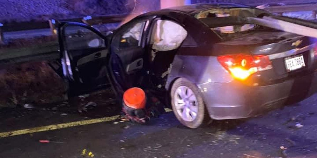 Woman pulls man out of burning car after crash on Cross County: 'It wasn't his time'